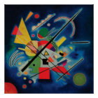 Blue Painting by Wassily Kandinsky Poster