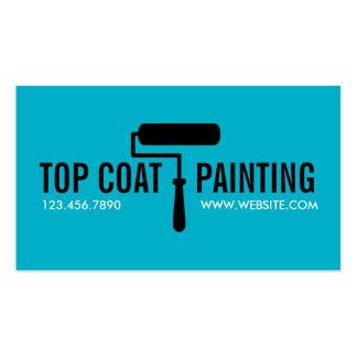 Blue Painting Painter Construction Business Card