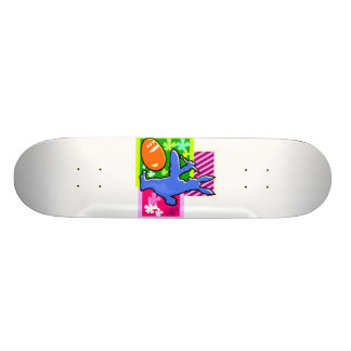 blue painting shadow rabbit easter egg.png skate board