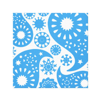 Blue Paisley. Canvas Print