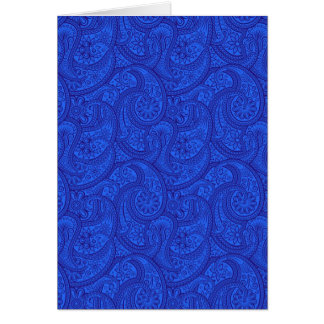 Blue Paisley Card
