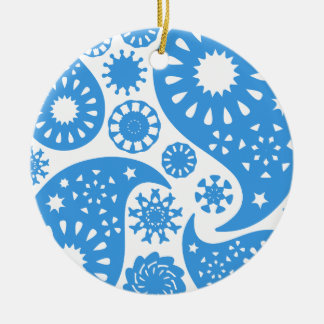 Blue Paisley. Christmas Tree Ornaments
