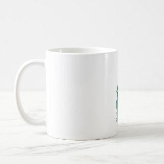 Blue Paisley Feather Mug