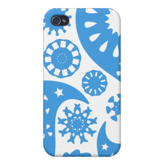 Blue Paisley. iPhone 4 Cover