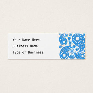 Blue Paisley. Mini Business Card
