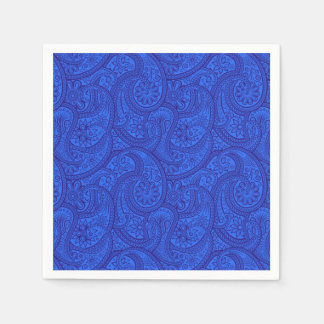 Blue Paisley Paper Napkin