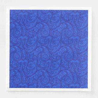 Blue Paisley Paper Napkins