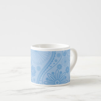 Blue paisley pattern espresso cup