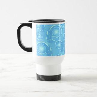 Blue Paisley Pattern. Travel Mug