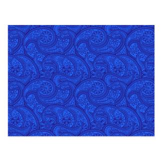 Blue Paisley Postcard