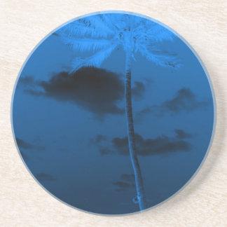 Blue Palm Beverage Coaster