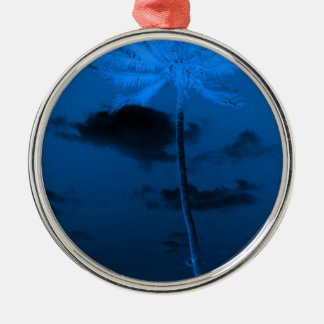 Blue Palm Christmas Ornament