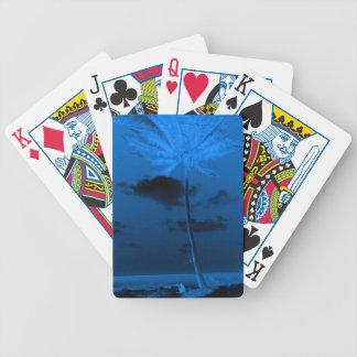 Blue Palm Poker Deck