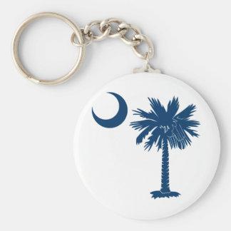Blue Palmetto Key Ring