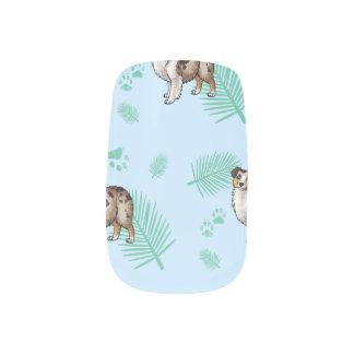 Blue Palms Aussie Minx Nail Art