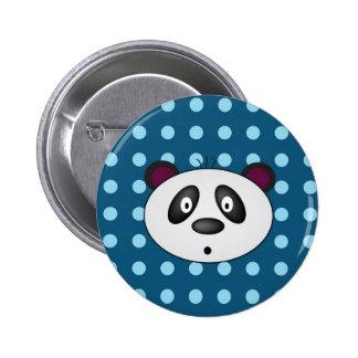 Blue Panda Bear Button