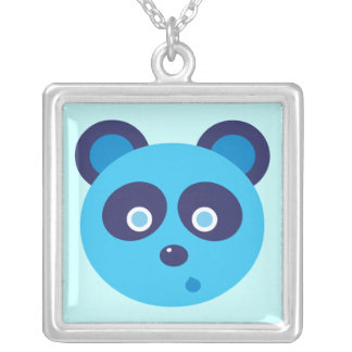 Blue Panda Silver Plated Necklace