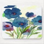 Blue pansies mousepad