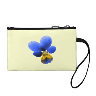Blue Pansy Bagettes Bag Change Purse