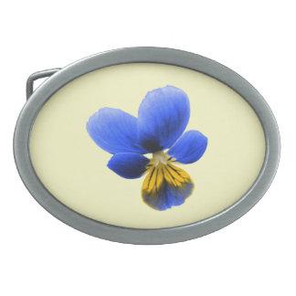Blue Pansy Belt Buckle