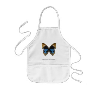 Blue Pansy Butterfly Aprons