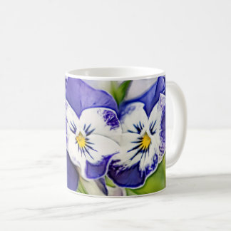 Blue Pansy Duo Coffee Mug