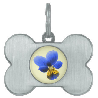 Blue Pansy Pet Tag