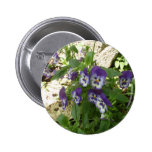 Blue Pansy Pinback Buttons