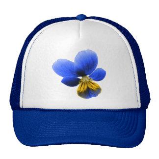 Blue Pansy Trucker Hat