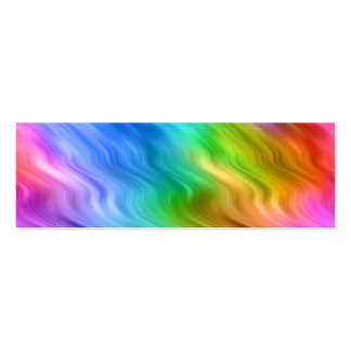 Blue Pansy Wavy Texture Pack Of Skinny Business Cards