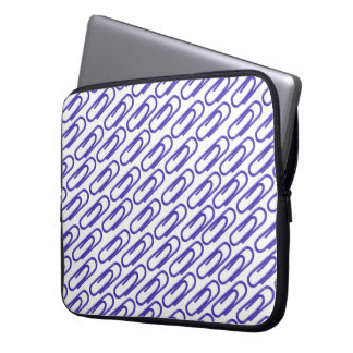 Blue Paper Clips Laptop Sleeve