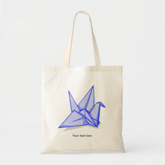 Blue Paper Crane Tote Bag