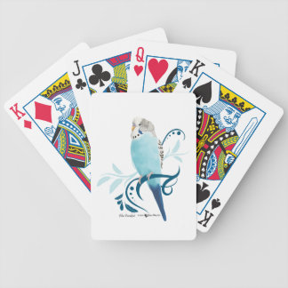 Blue Parakeet Bicycle Playing Cards