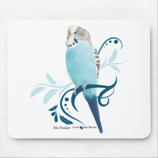 Blue Parakeet Mouse Pad