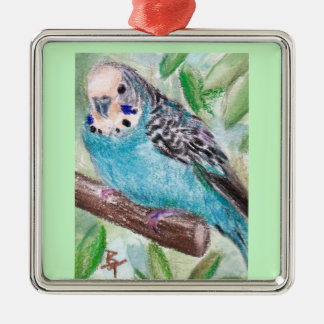 Blue Parakeet Ornament