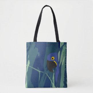 Blue Parrot Allover Tote Bag