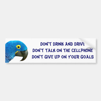Blue Parrot of Love_ Bumper Stickers