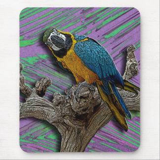 Blue Parrot Palms mousepad