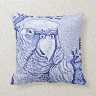 Blue Parrot Pillow