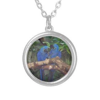 Blue Parrots Branch Necklace