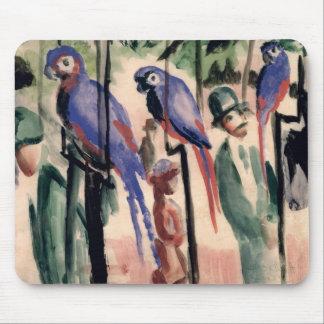 Blue Parrots Mouse Mat