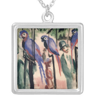 Blue Parrots Silver Plated Necklace