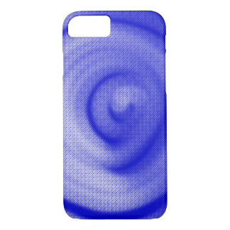 Blue Particle Spiral - Apple iPhone Case