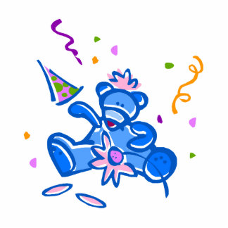 Blue Party Bear Cut Outs