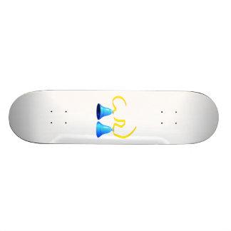 Blue Party Bells Skate Board
