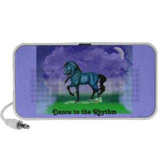 Blue Paso Fino Horse doodle speaker