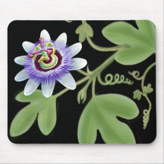 Blue Passiflora Vine Mousepad