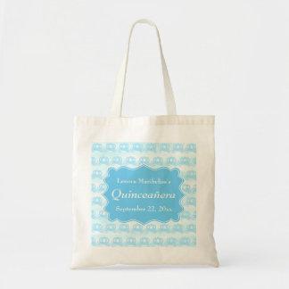 Blue Pastel Carriages Quinceanera Canvas Bag