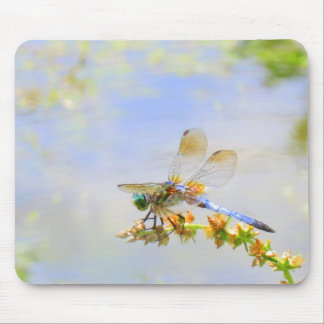 Blue Pastel Dragonfly Mousepad