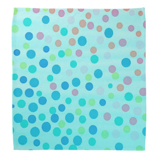 Blue pastel multicolor dots bandana